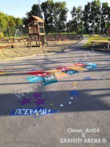 Детская игровая площадка в спортивном центре. Совместный проект. Выполнила команда художников Clever_Art54