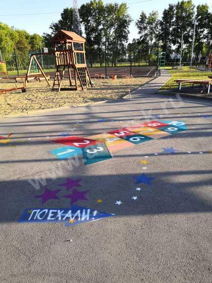 Детская игровая площадка в спортивном центре. Совместный проект Graffiti Arena и Clever_Art54