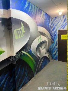 Художественная роспись производственных помещений Энергетической компании.